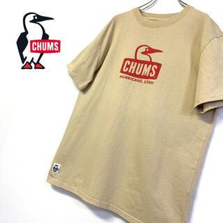CHUMS - 美品 CHUMS ロゴTシャツ メンズL ベージュ系