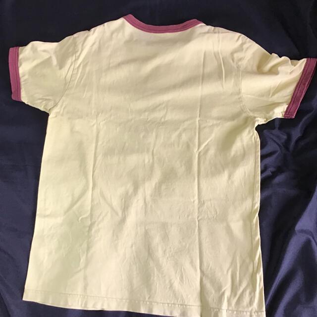 Champion(チャンピオン)のチャンピオン リンガーTシャツ Lサイズ マスタード×ブラウンChampion  メンズのトップス(Tシャツ/カットソー(半袖/袖なし))の商品写真