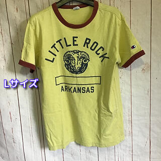 Champion - チャンピオン リンガーTシャツ Lサイズ マスタード×ブラウンChampion