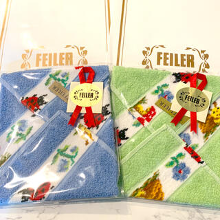 FEILER - 【新品】フェイラーFEILER 大判サイズ タオルハンカチ 2枚セット
