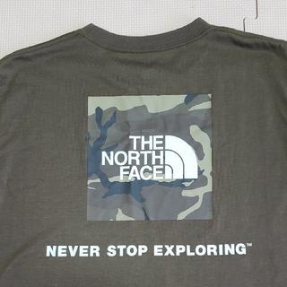 THE NORTH FACE - ノースフェイス スクエアロゴカモTシャツ  カーキM