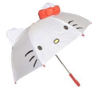 耳付き傘 キティ 19295 ハローキティ 子供傘 キッズ傘 キャラクター傘(傘)