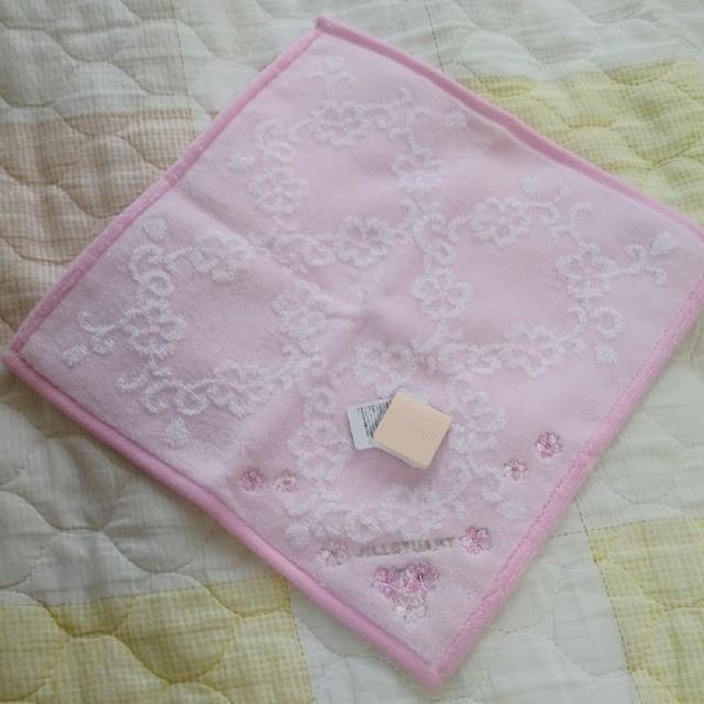 JILLSTUART(ジルスチュアート)のJILL STUART❤︎ ふわふわ タオルハンカチ ピンク系 2枚セット レディースのファッション小物(ハンカチ)の商品写真