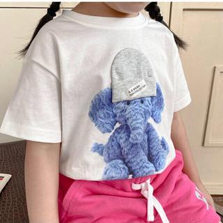 キッズ100 半袖Tシャツ アニマル柄Tシャツ キッズ90