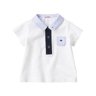 familiar - 美品★ファミリアのシャツ★90cm★ホワイト色★半袖ポロシャツ