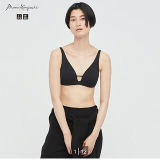 マメ(mame)のユニクロ×mame kurogouchi インナーセット Lサイズ ブラック(ブラ)
