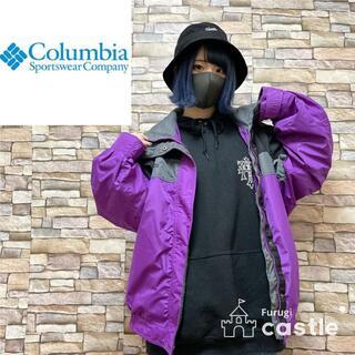 Columbia - Columbia コロンビア マウンテンパーカー パープル×ブラック L