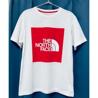 THE NORTH FACE - 【ノースフェイス】定番 ビックロゴ☆半袖プリントTシャツ 赤 Lサイズ 美品