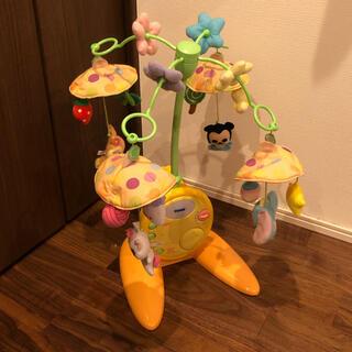 タカラトミー(Takara Tomy)の美品 ディズニー やわらかガラガラ メリー デラックス(オルゴールメリー/モービル)