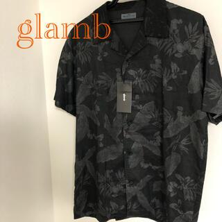 グラム(glamb)のglamb Black flower 開襟シャツ 新品未使用タグ付き(シャツ)