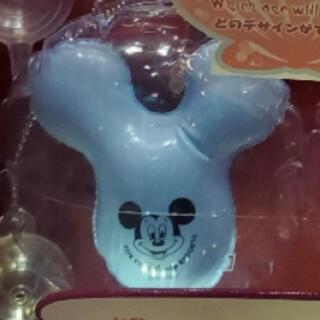 Disney - ミッキー バルーン型 キーチェーン カプセルトイ ブルー 青