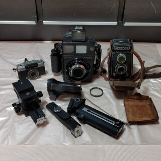 マミヤ(USTMamiya)のレトロ カメラ MAMIYA AIRESFLEX OLYMPUS セット売り(フィルムカメラ)