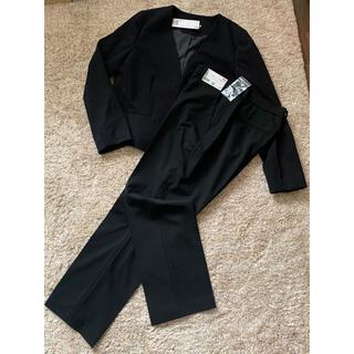 ユニクロ(UNIQLO)のユニクロ  上下セット レディース  パンツスーツ 未使用 XL ブラック(スーツ)