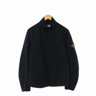 ストーンアイランド(STONE ISLAND)のストーンアイランド ジャケット ブルゾン ロゴ刺繍 中綿 ワッペン S 黒(ブルゾン)
