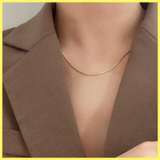 レディースアクセサリー ネックレス チェーンスネークチェーン ゴールド シンプル