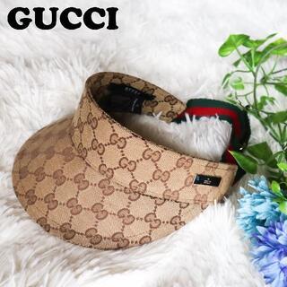 Gucci - グッチ GUCCI サンバイザー キャップ シェリーライン GG イタリア製