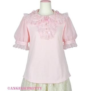 アンジェリックプリティー(Angelic Pretty)のAngelic Pretty ふわふわリボン半袖カットソーピンク(カットソー(半袖/袖なし))