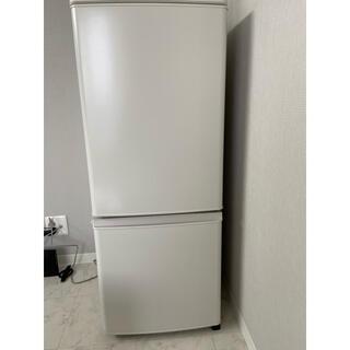 ミツビシ(三菱)のMITSUBISHI 2ドア冷凍冷蔵庫 146L 2021年製(冷蔵庫)