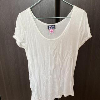 アナップキッズ(ANAP Kids)のTシャツ カットソー ANAPGirl XS ホワイト アシメ 半袖Tシャツ(Tシャツ(半袖/袖なし))
