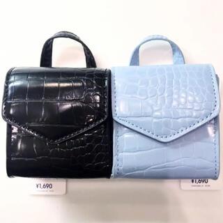 ジーユー(GU)の2色セット ミニ チェーン ショルダーバッグ クロコ 型押し GU  ポーチ 鞄(小道具)