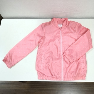 薄手ジャンパー ピンク ドット 130cm(ジャケット/上着)