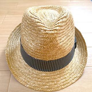 ジーユー(GU)のGU 麦わら帽子 ハット ドット柄(麦わら帽子/ストローハット)