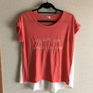 ブージュルード(Bou Jeloud)のBou jeloud シフォン切り替えTシャツ(Tシャツ(半袖/袖なし))