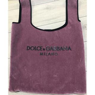 ドルチェアンドガッバーナ(DOLCE&GABBANA)のD&G ベロアマーケットバッグ ピンク(トートバッグ)