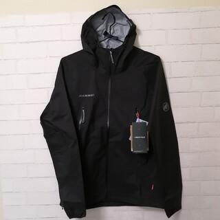 マムート(Mammut)の【新品】MAMMUT Masao Light HS Hooded Lサイズ 黒(登山用品)