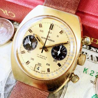 ブライトリング(BREITLING)の#1504【人気のクロノグラフ】メンズ腕時計 ワックマン 動作良好 ヴィンテージ(腕時計(アナログ))