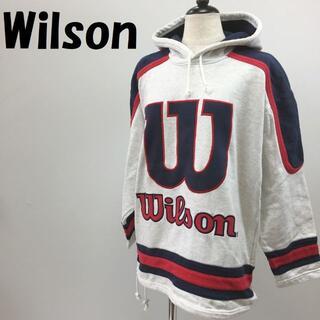 wilson - 【人気】ウイルソン ビッグロゴ プルオーバーパーカー スウェット フーディー M