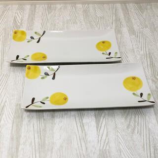 ハサミ(HASAMI)の新品 有田焼 波佐見焼 ゆず 柚 柚子 長皿 皿 角皿 オシャレ 2枚(食器)