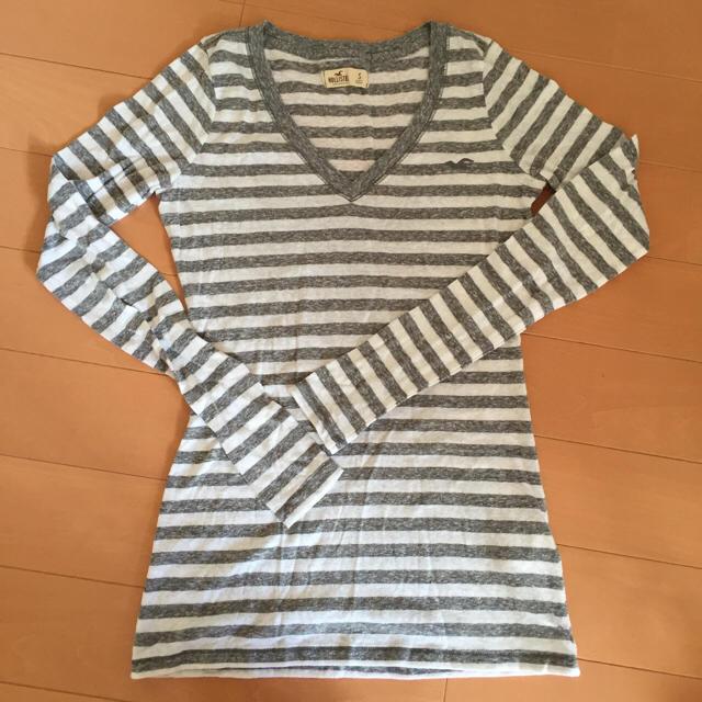 Hollister(ホリスター)のホリスターボーダーロンT★ロゴT★長袖Tシャツ レディースのトップス(Tシャツ(長袖/七分))の商品写真