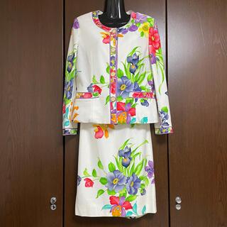 レオナール(LEONARD)の【美品】LEONARD スカート セットアップ 11AR(スーツ)