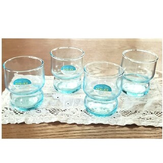 アデリア ADELEX レトログラス 4個セット 新品(グラス/カップ)