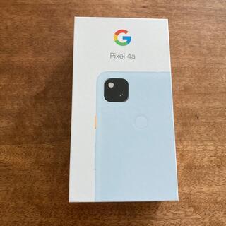 グーグル(Google)のGoogle Pixel4a Barely Blue SIMロック解除済み(スマートフォン本体)