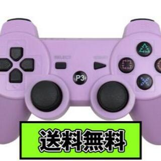 PS3 コントローラー パープル Purple 紫色 Bluetooth 互換品(その他)