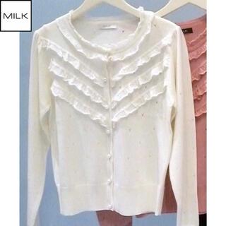 ミルク(MILK)の【新品未使用】MILK Angelinaカーデ オフホワイト(カーディガン)