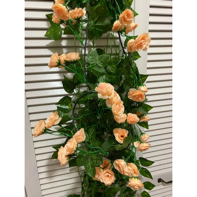 4点セット フェイクグリーン ミックスリーフガーランド 造花 植物装飾  DIY ハンドメイドのフラワー/ガーデン(ドライフラワー)の商品写真