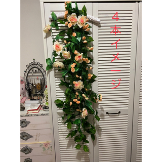 4点セット フェイクグリーン ミックスリーフガーランド 造花 植物装飾  DIY(ドライフラワー)