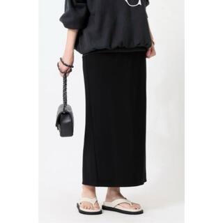 ドゥーズィエムクラス(DEUXIEME CLASSE)の新品 Jersey Long タイトスカートブラック38(ロングスカート)