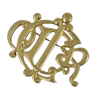 クリスチャンディオール(Christian Dior)のクリスチャンディオール ロゴ ブローチ GP 【中古】(ブローチ/コサージュ)