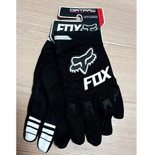 FOX フォックス 黒白 グローブ バイク モトクロス オフロード MTB ダー(モトクロス用品)