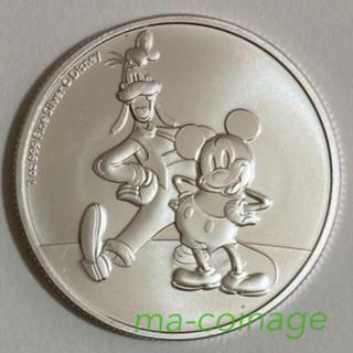 ディズニー(Disney)のミッキー&グーフィー 1オンス銀貨BU 2021年ニウエ発行 カプセル別売り(貨幣)