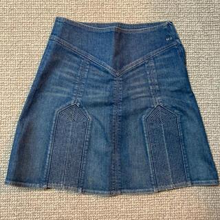 マークジェイコブス(MARC JACOBS)のMARC JACOBS デニムスカート(ひざ丈スカート)