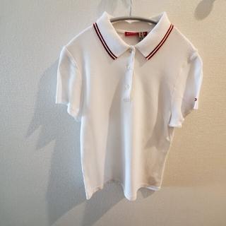 バリー(Bally)のBALLYGOLF ポロシャツ ホワイト レッド レディース(ポロシャツ)