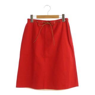 ハロッズ(Harrods)のハロッズ Harrods スカート ひざ丈 台形 2 赤 レッド(ひざ丈スカート)