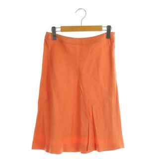 ハロッズ(Harrods)のハロッズ Harrods スカート ひざ丈 フレア 2 オレンジ(その他)