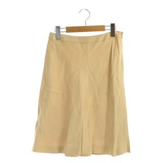 ハロッズ(Harrods)のハロッズ Harrods スカート ひざ丈 フレア 2 ベージュ(ひざ丈スカート)