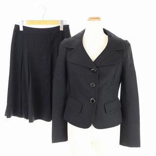 ハロッズ(Harrods)のハロッズ スーツ セットアップ ジャケット スカート フレア 膝丈 2 黒(スーツ)